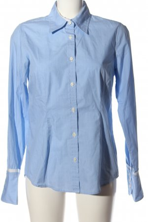 0039 Italy Langarmhemd blau-weiß Karomuster Business-Look