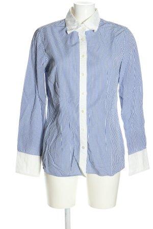 0039 Italy Langarmhemd blau-weiß Karomuster Casual-Look