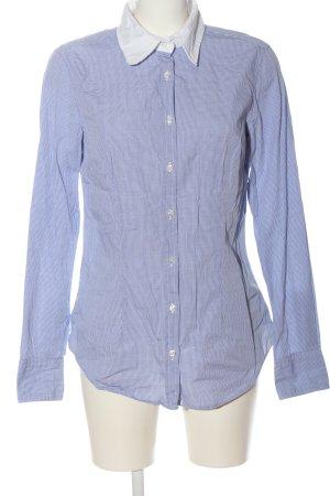 0039 Italy Camisa de manga larga azul-blanco estilo «business»