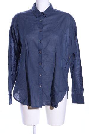 0039 Italy Koszula z długim rękawem niebieski W stylu biznesowym