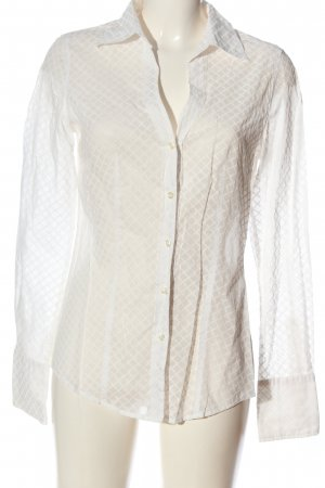 0039 Italy Long Sleeve Shirt natural white allover print business style