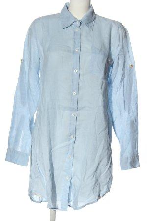 0039 Italy Chemise à manches longues bleu style d'affaires