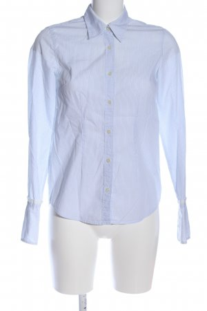 0039 Italy Langarmhemd blau-weiß Streifenmuster Business-Look