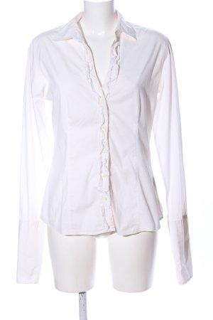 0039 Italy Koszula z długim rękawem biały W stylu biznesowym