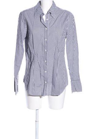 0039 Italy Shirt met lange mouwen zwart-wit volledige print casual uitstraling