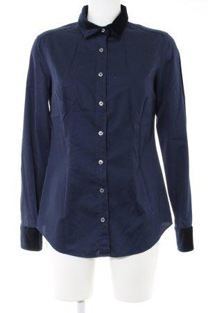 0039 Italy Langarmhemd blau Casual-Look