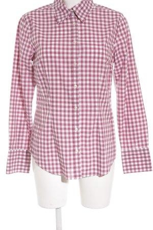 0039 Italy Langarmhemd himbeerrot-weiß Karomuster klassischer Stil