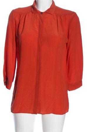 0039 Italy Camicia a maniche lunghe rosso Seta