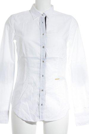 0039 Italy Langarmhemd weiß Casual-Look