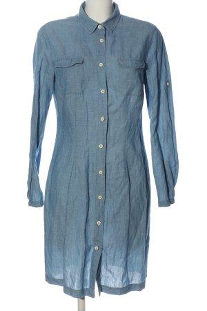 0039 Italy Robe à manches longues bleu style décontracté