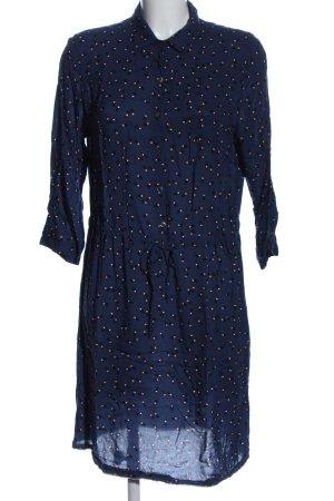 0039 Italy Sukienka z długim rękawem niebieski-czerwony Na całej powierzchni