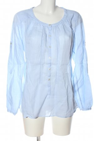 0039 Italy Linen Blouse blue business style