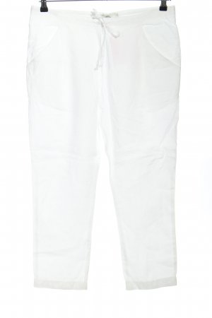 0039 Italy Leinenhose weiß Casual-Look