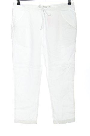 0039 Italy Pantalón de lino blanco look casual