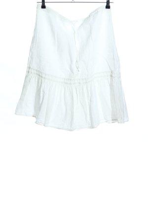 0039 Italy Jupe en lin blanc style décontracté