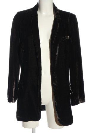 0039 Italy Long-Blazer schwarz Casual-Look