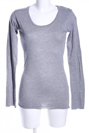 0039 Italy Longsleeve light grey flecked casual look