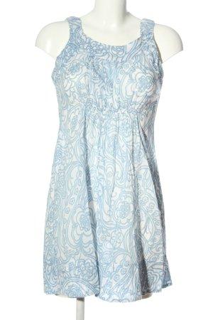 0039 Italy Minikleid blau-weiß Allover-Druck Casual-Look