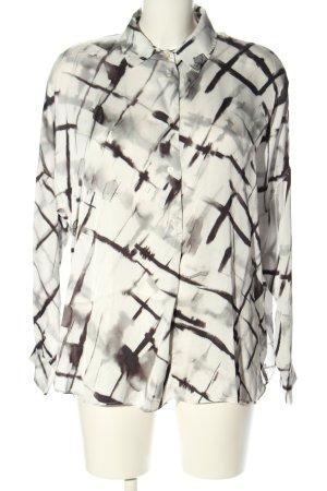 0039 Italy Oversized Bluse abstraktes Muster Elegant