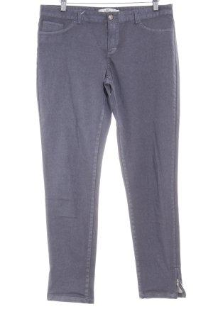 0039 Italy Pantalon cigarette gris ardoise style décontracté