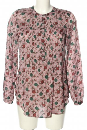0039 Italy Schlupf-Bluse abstraktes Muster Casual-Look