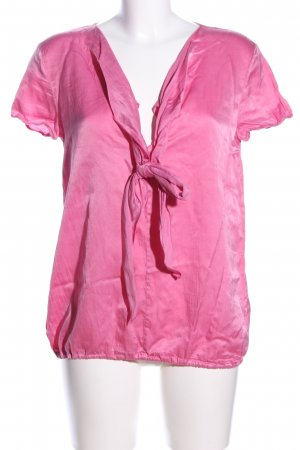 0039 Italy Schluppen-Bluse pink Business-Look