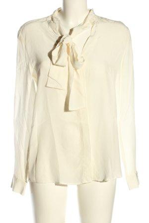 0039 Italy Blouse avec noeuds blanc cassé style d'affaires