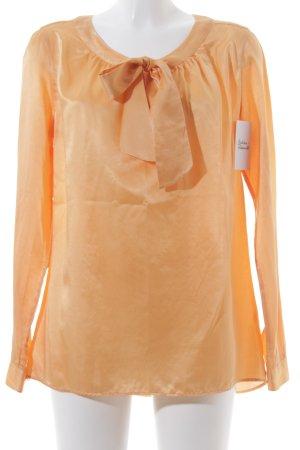 0039 Italy Tie-neck Blouse light orange elegant