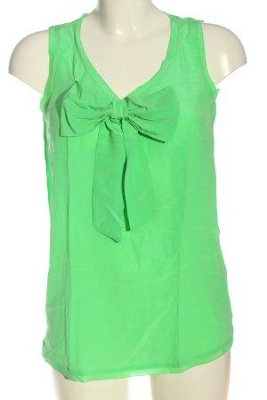 0039 Italy Blusa de seda verde look casual