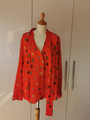 0039 Italy Tie-neck Blouse red