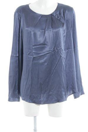 0039 Italy Seidenbluse blau Elegant