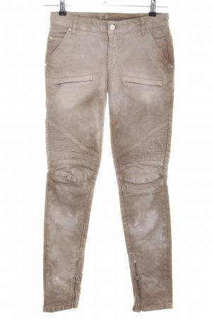 0039 Italy Skinny Jeans brown-cream color gradient casual look