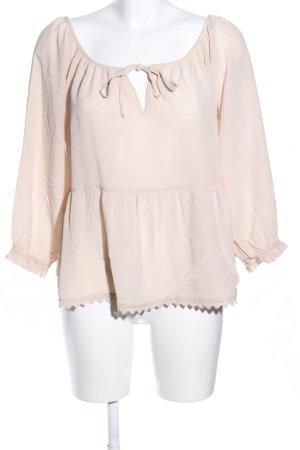 0039 Italy Kanten blouse wolwit casual uitstraling