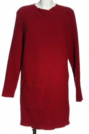 0039 Italy Knitted Coat red casual look