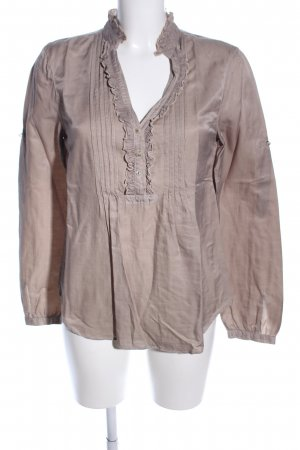 0039 Italy Tunic Blouse brown business style