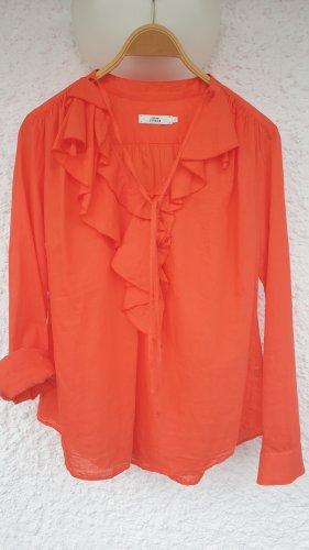 0039 Italy Bluzka z długim rękawem łosowiowy-jasnoczerwony
