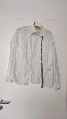 0039 Italy Blusa de manga larga blanco Algodón