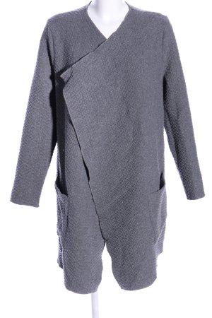 0039 Italy Abrigo de lana gris claro moteado look casual