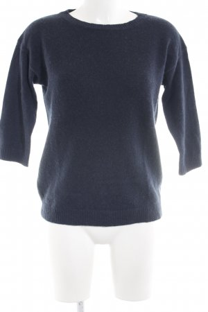 0039 Italy Wollpullover dunkelblau Casual-Look