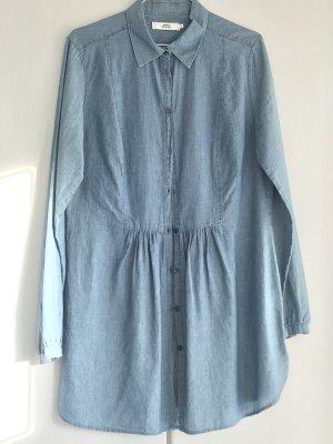 0039 TUNIKA/Longbluse in Jeans-blau, Gr. 38