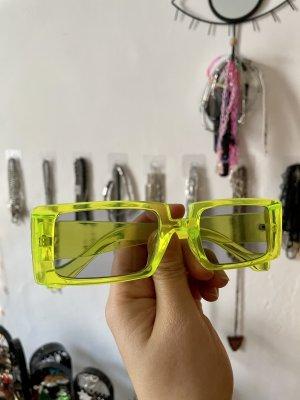 Dolls Kill Kwadratowe okulary przeciwsłoneczne zielony neonowy