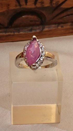 0pal Ring mit Zirkonia Steinchen Gr.16