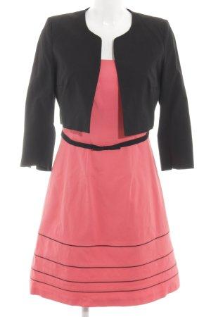 1.2.3 Paris A-Linien Kleid pink-schwarz klassischer Stil
