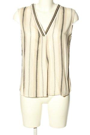 1.2.3 Paris Blusa senza maniche bianco sporco-nero stampa integrale stile casual