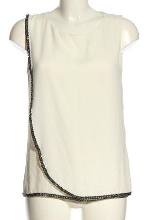 1.2.3 Paris ärmellose Bluse weiß-schwarz Casual-Look