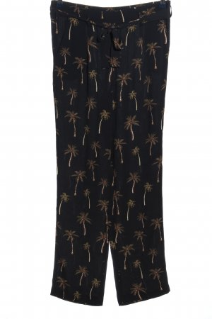 1.2.3 Paris Baggy Pants black-gold-colored allover print casual look