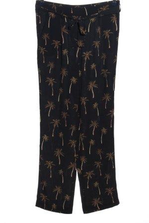 1.2.3 Paris Baggy Pants schwarz-goldfarben Allover-Druck Casual-Look