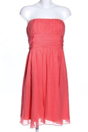 1.2.3 Paris Bandeau Dress red-black spot pattern casual look