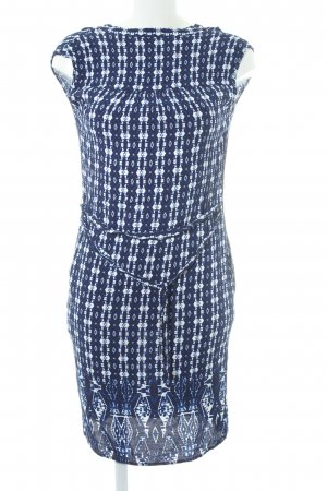 1.2.3 Paris Blusenkleid dunkelblau-weiß abstraktes Muster Elegant