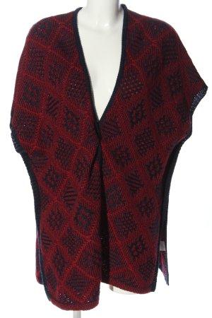 1.2.3 Paris Cardigan rouge-bleu motif à carreaux style décontracté